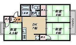 ファミール阪和[2階]の間取り