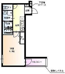 フジパレス新金岡II番館 3階1Kの間取り