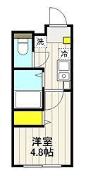 Horizon Blue Oji 4階1Kの間取り
