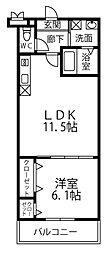 南海線 高石駅 徒歩10分の賃貸アパート 2階1LDKの間取り
