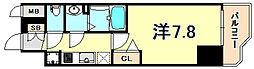 JR東海道・山陽本線 神戸駅 徒歩4分の賃貸マンション 13階1Kの間取り