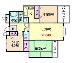 エステート松尾[2階]の間取り