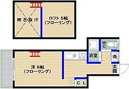 メゾン・ド・カナール[203号室]の間取り