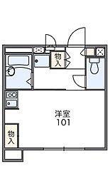 愛知県豊田市十塚町3丁目の賃貸アパートの間取り