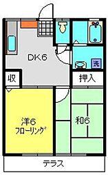 エステートYASUI A[105号室]の間取り