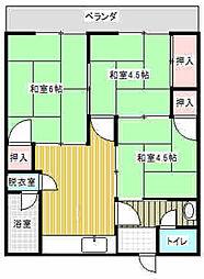 宮崎アパート[2号室]の間取り