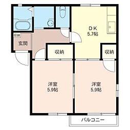 サニ−ハウス[202号室]の間取り