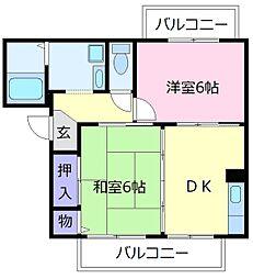 くすの木ハイツA[2階]の間取り