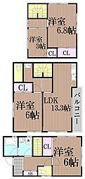 [一戸建] 東京都大田区西馬込2丁目 の賃貸【東京都 / 大田区】の間取り