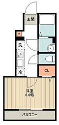 西武新宿線 西武柳沢駅 徒歩15分の賃貸アパート 1階1Kの間取り