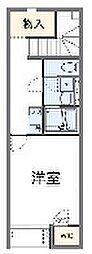 JR八高線 毛呂駅 徒歩12分の賃貸アパート 2階1Kの間取り