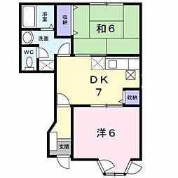 神奈川県厚木市棚沢の賃貸アパートの間取り