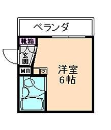 カトレヤハイツ[5階]の間取り