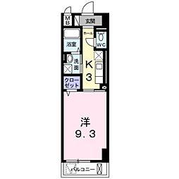 神奈川県横浜市港北区綱島東3丁目の賃貸マンションの間取り