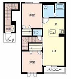 ラ・フルール3[2階]の間取り