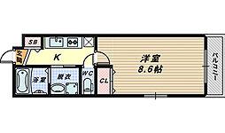 大阪府堺市西区鳳中町1丁の賃貸アパートの間取り