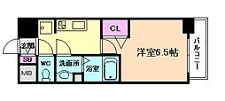 阪急宝塚本線 十三駅 徒歩12分の賃貸マンション 6階1Kの間取り