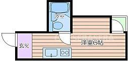 大阪府大阪市中央区瓦屋町3丁目の賃貸マンションの間取り