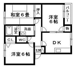 アドザックスIWAHATAA・B棟[1階]の間取り