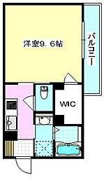 大阪モノレール彩都線 阪大病院前駅 徒歩6分の賃貸アパート 1階1Kの間取り