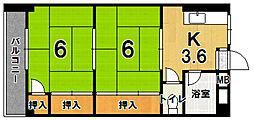ファミリアウエムラ第3[202号室]の間取り