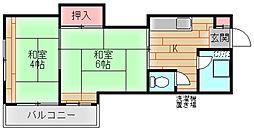マンションサンエース[5階]の間取り