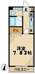 京王相模原線 京王永山駅 徒歩7分の賃貸マンション 4階1Kの間取り