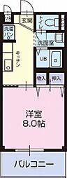 愛知県知多郡阿久比町陽なたの丘2丁目の賃貸アパートの間取り