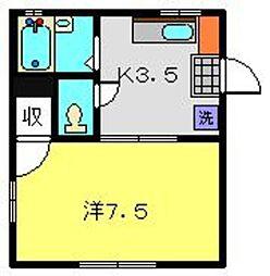 神奈川県横浜市金沢区片吹の賃貸アパートの間取り