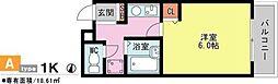 兵庫県西宮市甲風園1丁目の賃貸マンションの間取り