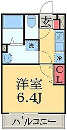JR総武本線 東千葉駅 徒歩14分の賃貸マンション 3階1Kの間取り