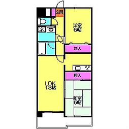 サクセスII[4階]の間取り