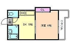 ローズコーポ天満東[12階]の間取り
