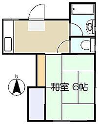 楓荘[1階]の間取り