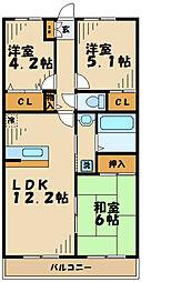 神奈川県川崎市麻生区白鳥3丁目の賃貸マンションの間取り