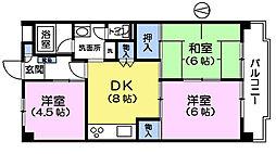 ヒルトップマンション[2階]の間取り