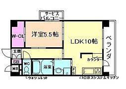 メロッソ福島[2階]の間取り