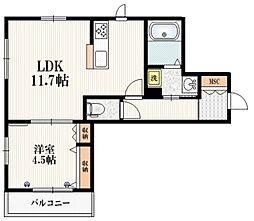 東京メトロ南北線 志茂駅 徒歩10分の賃貸マンション 3階1LDKの間取り