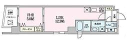 Luce 6階1LDKの間取り
