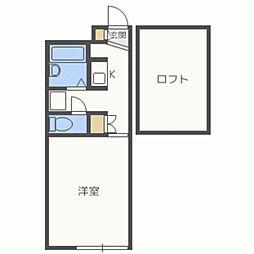 レオパレスAKI[103号室]の間取り