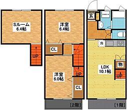 長崎県長崎市西北町の賃貸アパートの間取り