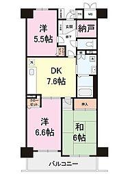 フロール川崎下平間1号棟[11階]の間取り