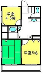 埼玉県さいたま市見沼区春岡2丁目の賃貸マンションの間取り