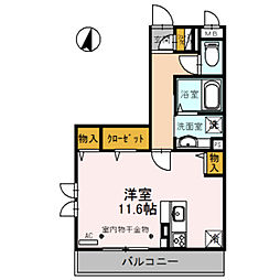 埼玉県草加市松原5丁目の賃貸アパートの間取り
