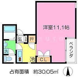 ことぶき荘[1階]の間取り