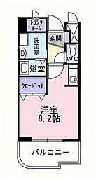レフィナードE[3階]の間取り