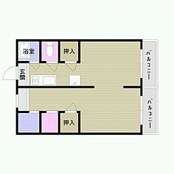 第二久保アパート[5号室]の間取り