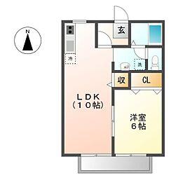 サンプレジャー三喜[2階]の間取り