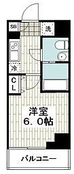 レガーロ吉野町 9階1Kの間取り