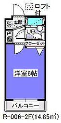 ローズアパートR6[1階]の間取り